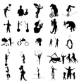 Circus silhouette set simple style vector image