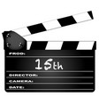 15th year clapperboard vector image vector image