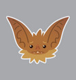 bat emotional head of bat vector image vector image