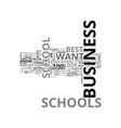 best business schools text word cloud concept vector image vector image