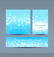bokeh lights on blue invitation cards vector image vector image