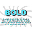 bold letters with falling dark shadow vector image vector image