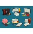 Business Cartoon Icons Set vector image vector image