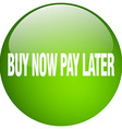 buy now pay later green round gel isolated push vector image vector image