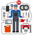 car service repair icons vector image vector image