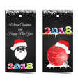 card for happy new year with santa claus and red vector image vector image