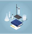 chemistry homework isometric vector image