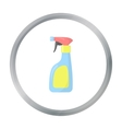 Cleaner spray cartoon icon for web vector image