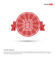 clipboard icon - red ribbon banner vector image vector image