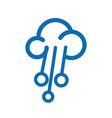 cloud network logo design vector image