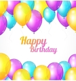 Color Happy birthday card Balloons fly vector image