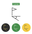 corner flag icon flat vector image