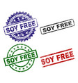 damaged textured soy free stamp seals vector image vector image