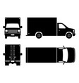 delivery truck black icons vector image