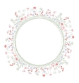 Detailed contour wreath with berries and herbs vector image vector image