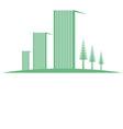 eco buildings 04 01 vector image vector image