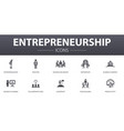 entrepreneurship simple concept icons set vector image vector image