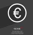 Euro icon symbol Flat modern web design with long vector image