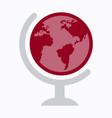 flat icon of globe vector image