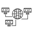 global web network icon outline style vector image