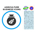 grain harvest sack rounded icon with set vector image vector image