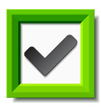 green positive checkmark vector image