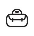 handbag icon vector image vector image