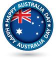 Happy Australia Day blue label vector image