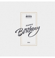 Happy birthday - card sticker can be used to vector image vector image