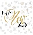 happy new year handwritten lettering design vector image