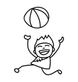 kid playing ball Happy Chinese New Year vector image vector image