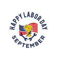 labor day lettering usa background vector image
