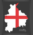 lancashire map england uk with english national vector image vector image
