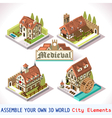 Medieval 01 Tiles Isometric vector image vector image