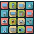 Modern electronic flat icons vector image vector image