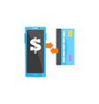 modern smartphone processing mobile payment from vector image