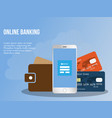 online banking concept design template vector image