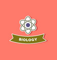 paper sticker on stylish background biology vector image vector image