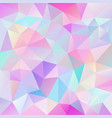 polygonal square background cute pink hologram vector image vector image