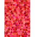 Red abstract regular triangle tile design vector image vector image