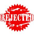 rejected rubber stamp vector image vector image