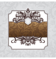 royal ornate vintage frame vector image vector image
