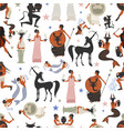 seamless pattern of zodiac signs in the style vector image vector image