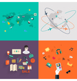 set icons flat design mobile phones vector image vector image