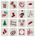 set icons for new year and christmas vector image