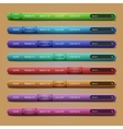 Set of 8 navigation bars for your website vector image vector image