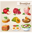 Set of different food icons Breakfast vector image vector image