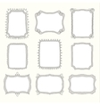 Set of doodle frames and different elements vector image vector image