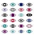Set of Eye Icons vector image vector image