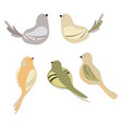 set stylized birds a collection of vector image vector image